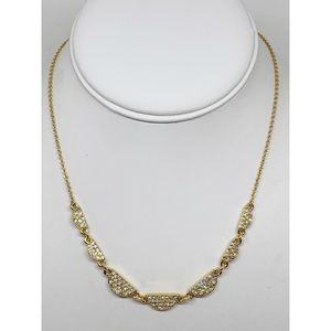 Kate Spade Scallop Pave Gold Necklace NWT